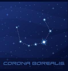 Constellation corona borealis northern crown vector