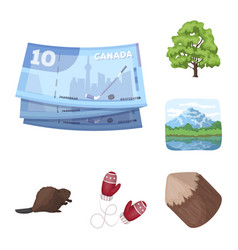 Country canada cartoon icons in set collection for vector