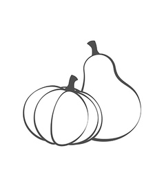 Couple Pumpkins silhouette vector image