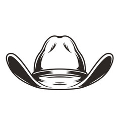 Cowboy hat front view template vector