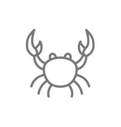 Crab aquatic animal line icon vector