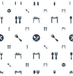 diner icons pattern seamless white background vector image