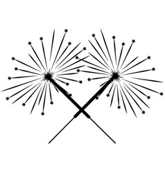 double black sparkler sign 3412 vector image