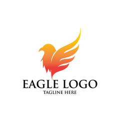eagle logo designs simple elegant vector image