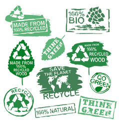ecology stamps set vector image