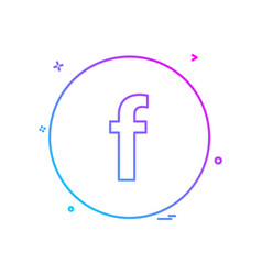 facebook icon design vector image