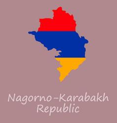 Flag map of nagorno karabakh republic vector