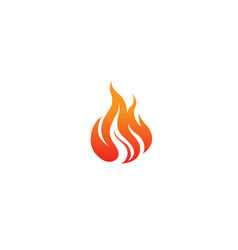 flaming fire logo vector image