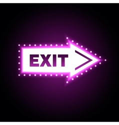 Glossy arrow with exit message vector image
