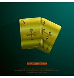 golden aces vector image