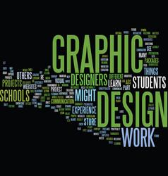Graphic design schools text background word cloud vector