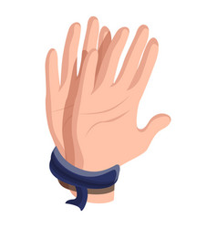 Hands tied icon cartoon style vector