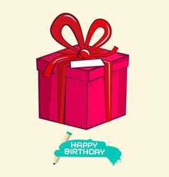Happy Birthday with Gift Box vector image