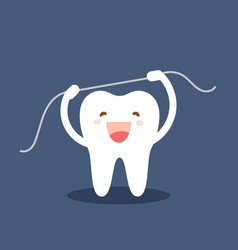 happy tooth icon cute tooth characters brushing vector image
