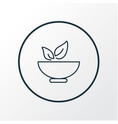Healthy food icon line symbol premium quality vector