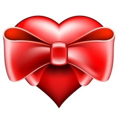Heart with big bow vector image