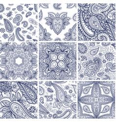 henna mehndi flower template seamless vector image