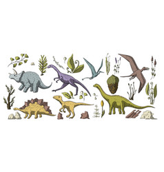 Huge clip art dino collection vector