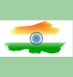 indian flag made with watercolor vector image