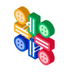 Interactive kids ludo game isometric icon vector