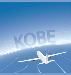 Kobe flight destination vector