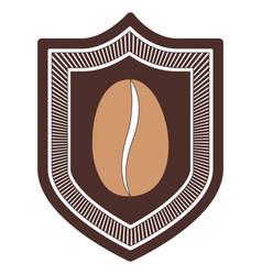 Logo emblem decorative of bean coffee silhouette vector