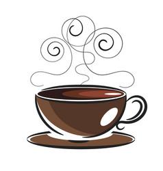 logo template coffee love vector image