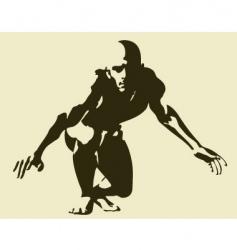 Male pose vector