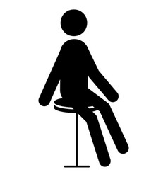 man on a chair icon vector image
