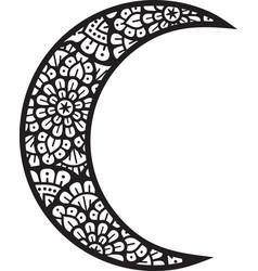 mandala moon layered icon vector image