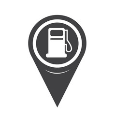 map pointer gas pump icon vector image