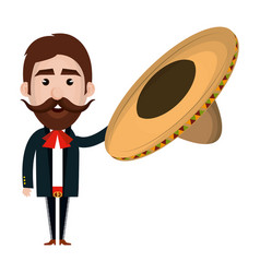 mexican mariachi avatar character vector image