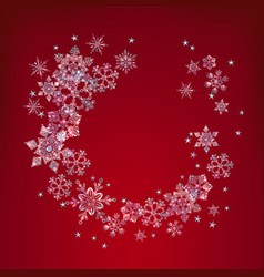 new year background with crystal snowflakes vector image