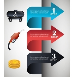 Oil prices infographic design vector image