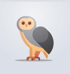 owl bird icon cute cartoon wild animal symbol vector image