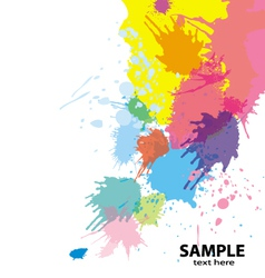 Paint splatter background vector