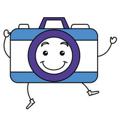 photographic camera kawaii character vector image