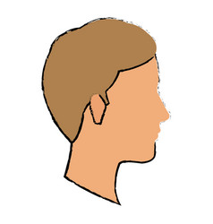profile man young character people vector image