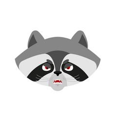Raccoon angry emoji racoon evil emotions avatar vector