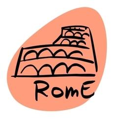 rome capital italy vector image