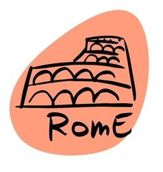 Rome the capital of Italy vector image