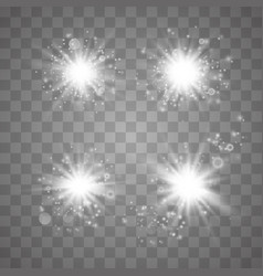 set glowing lights vector image