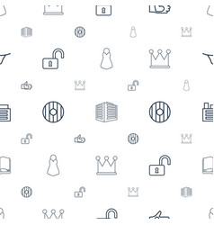 shape icons pattern seamless white background vector image