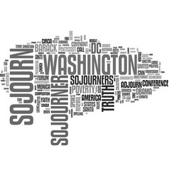 Sojourn word cloud concept vector