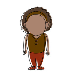 Standing woman female adult person character vector
