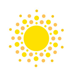 summer symbol sun modern icon dots and points vector image