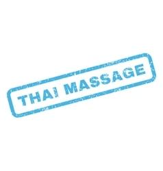 Thai Massage Rubber Stamp vector