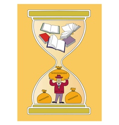 time and books vector image