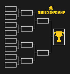 Tournament bracket tennis championship vector