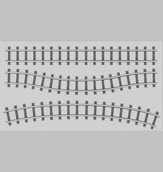 Train rails top view railway track construction vector
